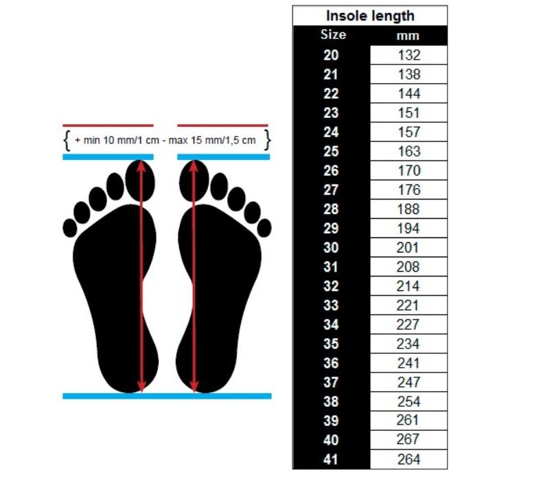 velikost obuvi Viking